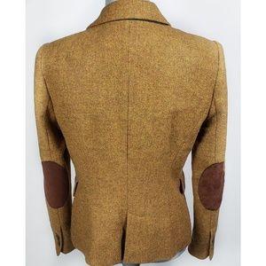 Zara Jackets & Coats - Zara Shetland Wool Tweed Elbow Patch Blazer Jacket
